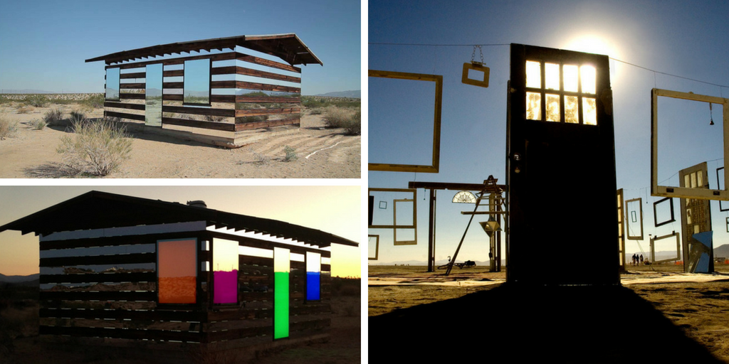 door in desert. Burning Man. Lucid Stead.